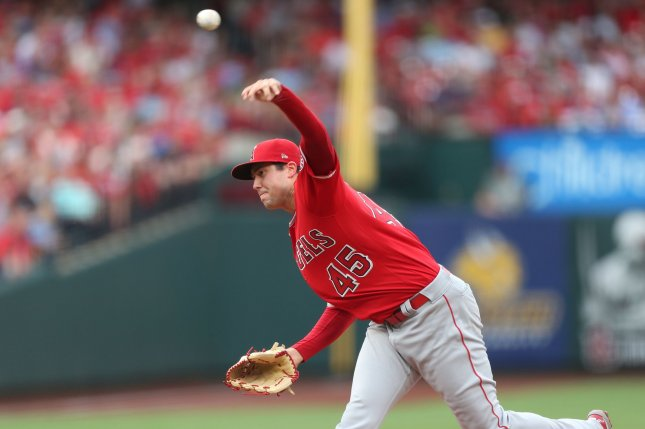 Former Los Angeles Angels pitcher Tyler Skaggs died in July 2019 at the age of 27 after being found unconscious in his Southlake, Texas, hotel room. File Photo by Bill Greenblatt/UPI