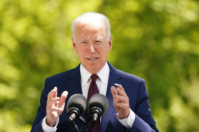 U.S. President Joe Biden speaks on the North Lawn of the White House in Washington, D.C., on Tuesday. Fully vaccinated Americans can be unmasked when exercising, dining and socializing outdoors in small groups, federal health officials said. Photo by Stefani Reynolds/UPI