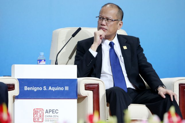 A death certificate said Aquino, pictured here during a summit in China in 2014, died Thursday from renal disease secondary to diabetes.File Photo by Jin Liwang/UPI