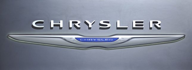 The Chrysler logo is seen at the company's display during the Chicago Auto Show at McCormick Place on February 9, 2012 in Chicago. UPI/Brian Kersey