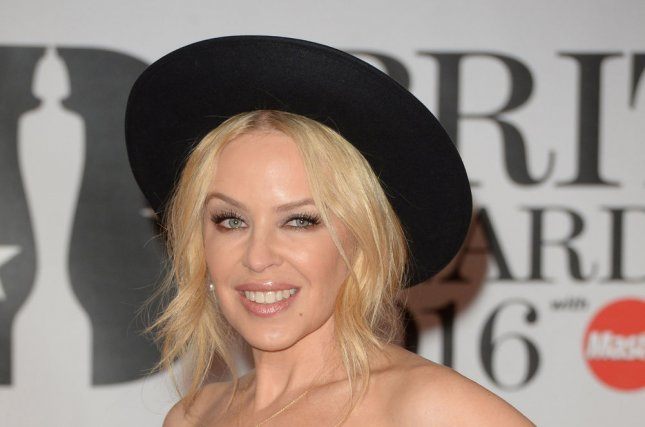 Kylie Minogue at the Brit Awards on February 24. File Photo by Rune Hellestad/UPI