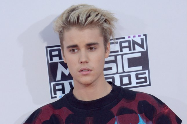 Justin Bieber arrives for the 43rd annual American Music Awards on November 22, 2015. File Photo by Jim Ruymen/UPI