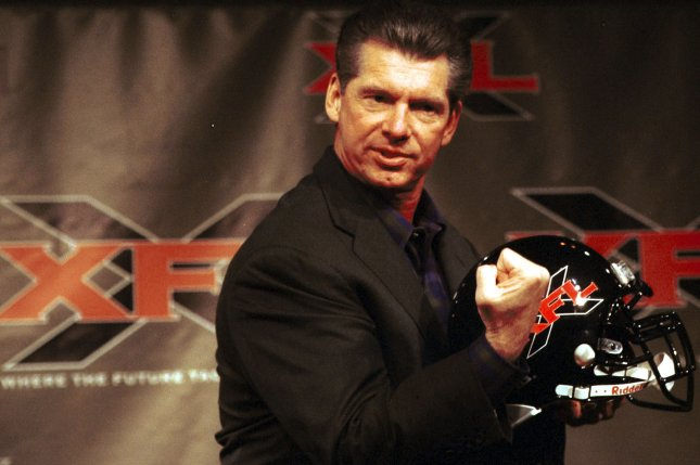 Vince McMahon, Chairman of the World Wrestling Federation, announced suddenly on May 10, 2001 that he is terminating the XFL spring football league after negotiations between McMahon, NBC and UPN TV broke down. File photo by Ezio Petersen/UPI