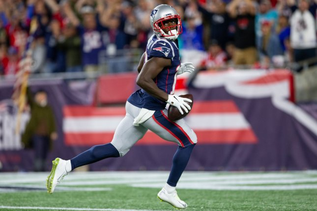 New England Patriots wide receiver Phillip Dorsett had 29 receptions for 397 yards and five touchdowns last season. File Photo by Matthew Healey/UPI