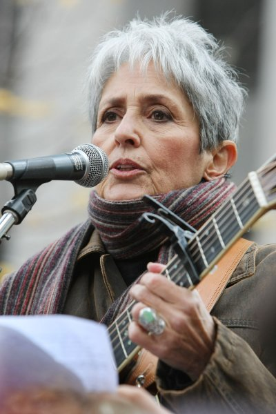 The Woody Guthrie Center has announced it is bestowing its 2020 Woody Guthrie Prize on folk singer-songwriter Joan Baez. File Photo by Monika Graff/UPI
