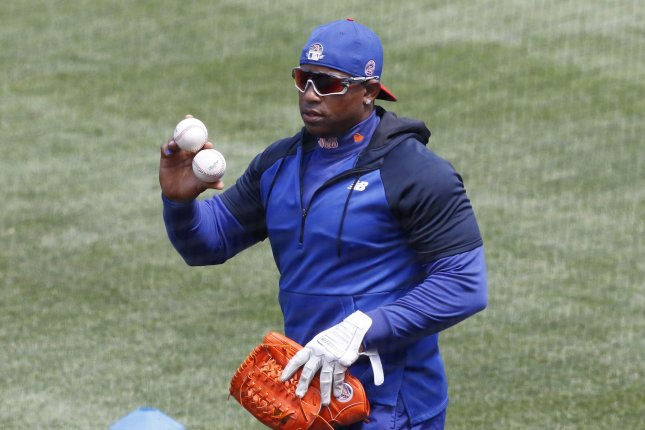 New York Mets slugger Yoenis Cespedes didn't report to Truist Park in Atlanta for Sunday's game against the Braves, causing concern among the team and fans. File Photo by John Angelillo/UPI