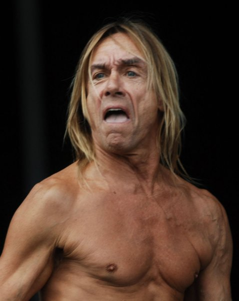 Iggy and the Stooges perform at the Virgin Mobile Festival at Pimlico Race Course in Baltimore, Maryland on August 10, 2008. (UPI Photo/Alexis C. Glenn)