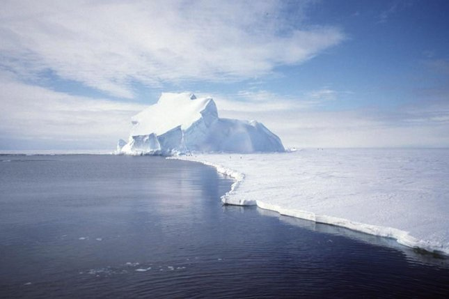 The Gravity Recovery and Climate Experiment (GRACE) satellite has been taking sensitive measurements of the gravity for the entire Earth, including Antarctica. Recent analysis of GRACE data indicate that the Antarctic ice sheet might have lost enough mass to cause the worlds' oceans to rise about .05 inches, on the average, from between 2002 and 2005. (UPI Photo/NASA/GRACE team/DLR/Ben Holt Sr.)