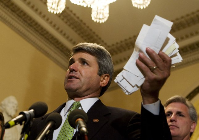 Rep. Michael McCaul, R-TX, said a December attack on North Korean Internet was payback for the Sony hack, but declined to identify the agency responsible for the retaliation. UPI Photo/Patrick D. McDermott