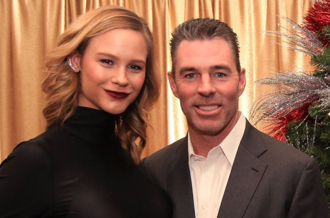 Meghan King Edmonds (L), pictured with Jim Edmonds, is leaving The Real Housewives of Orange County to focus on her pregnancy and family. File Photo by Bill Greenblatt/UPI
