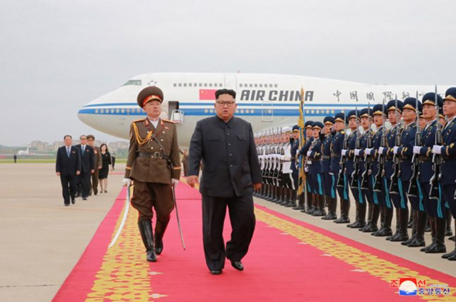 Kim Jong Un could arrive in Vietnam days ahead of President Donald Trump, according to a South Korean press report. File Photo by KCNA/UPI