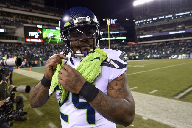 The Seattle Seahawks are involved in talks with Marshawn Lynch's agent about a reunion with the running back for the 2020 season. File Photo by Derik Hamilton/UPI