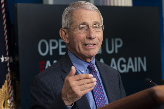As some states have experienced spikes in coronavirus cases, White House Health adviser Dr. Anthony Fauci said Sunday the country may not return to real normality until next year. File Photo by Chris Kleponis/UPI