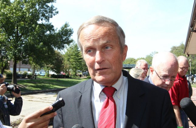 Todd Akin speaks at a Sept. 24, 2012, news conference in Kirkwood, Mo.. UPI/Bill Greenblatt