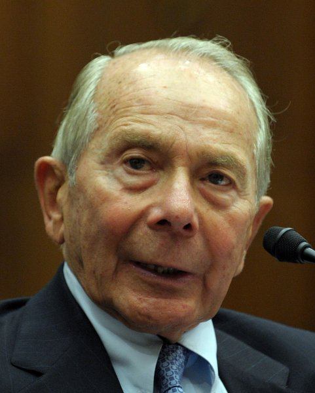 Former AIG CEO Maurice Greenberg (UPI Photo/Roger L. Wollenberg)