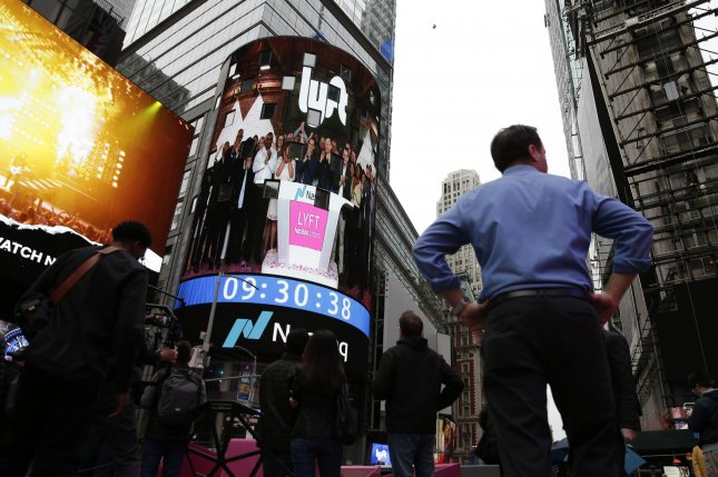 Lyft debuted on Nasdaq with a top price of $87 a share Friday. Photo by John Angelillo/UPI
