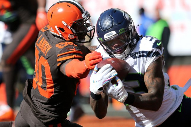 Former Seattle Seahawks safety Tedric Thompson was released by the team in late May with a failed physical designation. File Photo by Aaron Josefczyk/UPI