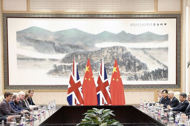 British-Chinese relations have deteriorated in recent months over media-related disputes and the role of diplomacy in the two countries. Pool Photo by Pang Xinglei/UPI