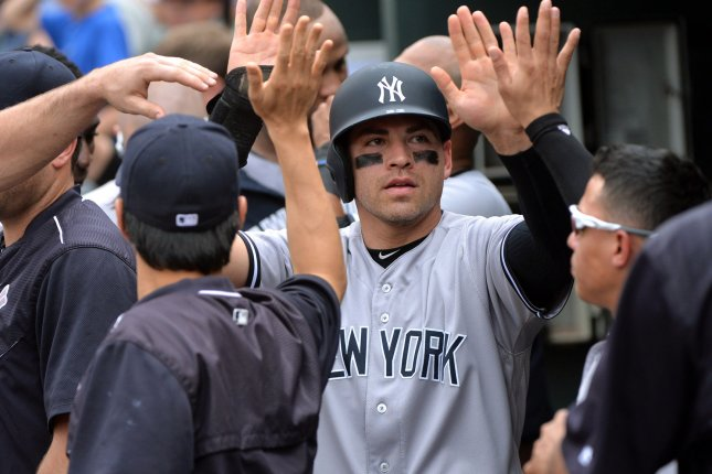 New York Yankees' Jacoby Ellsbury. Photo by Kevin Dietsch/UPI