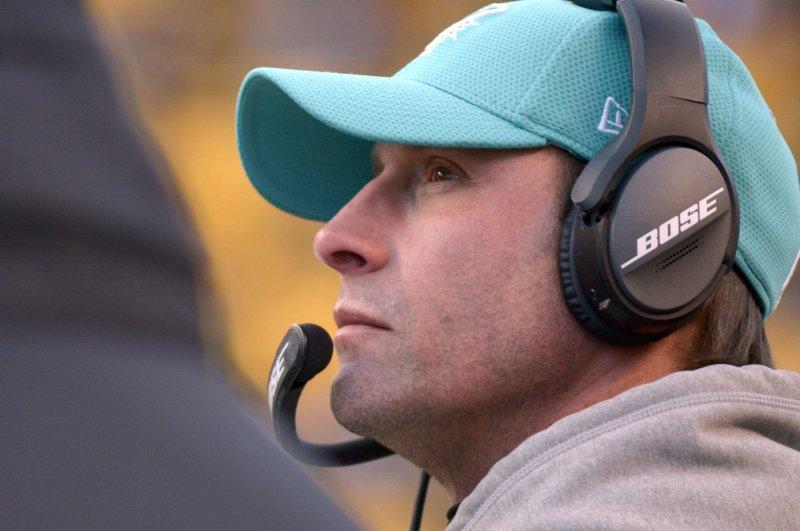 Miami Dolphins coach Adam Gase. File photo by Archie Carpenter/UPI