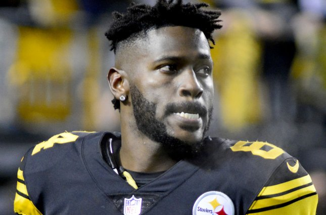 Antonio Brown said goodbye to Pittsburgh Steelers fans on Tuesday, despite still being under contract. Brown has been linked to trade rumors all offseason. File Photo by Archie Carpenter/UPI