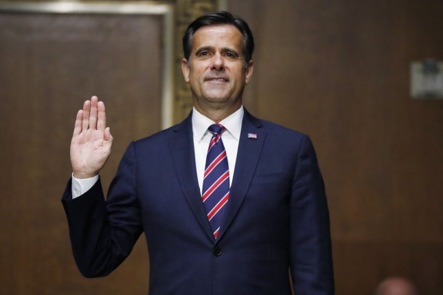 Rep. John Ratcliffe, R-Texas, is sworn in before a Senate intelligence committee nomination hearing to be the next director of national intelligence on Capitol Hill on Tuesday. Photo by Andrew Harnik/UPI