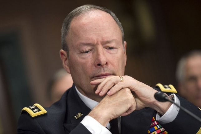 Gen. Keith Alexander, director of the National Security Agency, testifies during a Senate Judiciary Committee hearing on U.S. government surveillance authorities on Capitol Hill in Washington, D.C., December 11, 2013. UPI/Kevin Dietsch