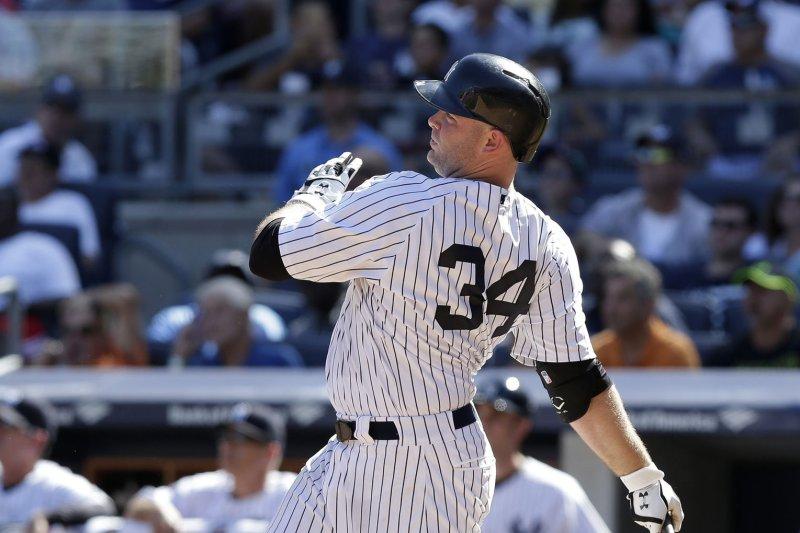 New York Yankees' Brian McCann. Photo by John Angelillo/UPI