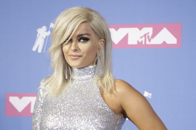 Bebe Rexha poses for photographers in the press room at the 35th annual MTV Video Music Awards at Radio City Music Hall in New York City on August 20. The singer turns 29 on August 30. Photo by Serena Xu-Ning/UPI