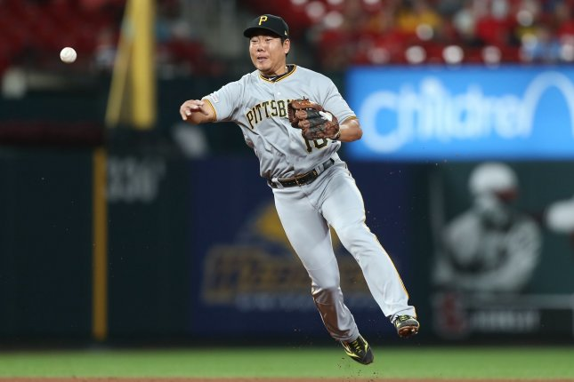 Former Pittsburgh Pirates infielder Jung Ho Kang will have to sit out for a year if he wants to return to the Korean Baseball Organization. File Photo by Bill Greenblatt/UPI