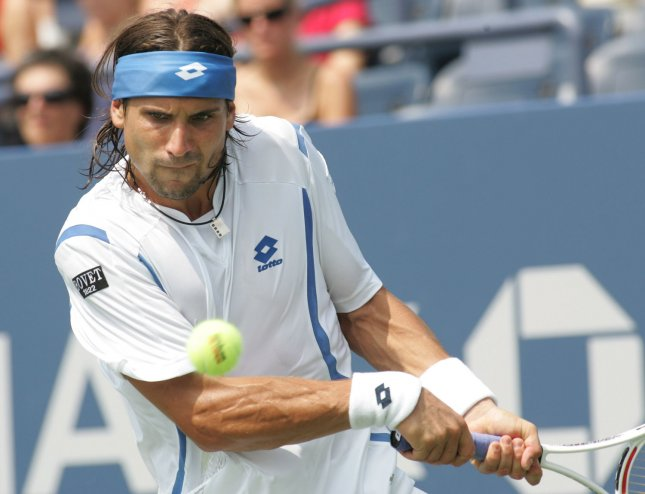 David Ferrer, shown during the 2008 U.S. Open, was an upset victim Thursday in second-round play at the China Open in Beijing. (UPI Photo/Monika Graff)