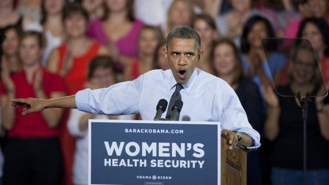 President Barack Obama, pictured at a campaign stop in Denver Aug. 8, 2012. UPI/Gary C. Caskey