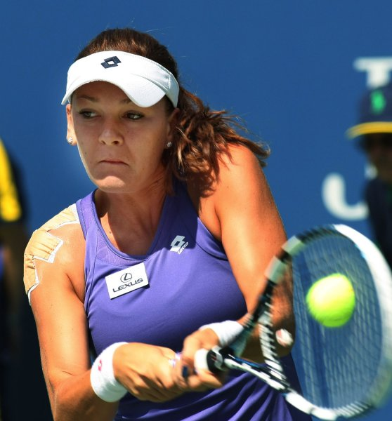Agnieszka Radwanska, shown at the 2012 U.S. Open, was a 6-0, 6-0 winner Friday in the title match of the Apia International tennis tournament in Sydney. UPI Photo/Monika Graff