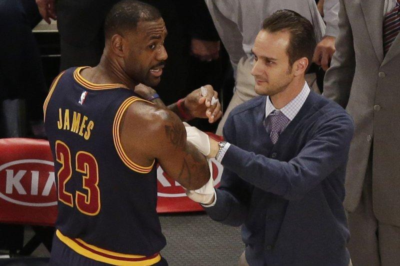 Cleveland Cavaliers' LeBron James. Photo by John Angelillo/UPI
