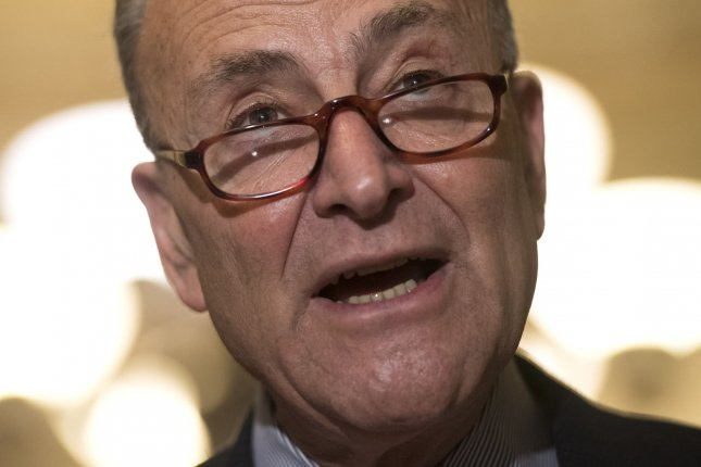 Senate Minority Leader Charles Schumer, D-N.Y., said Thursday he plans to vote against the nomination of U.S. Supreme Court nominee Neil M. Gorsuch in the upper chamber -- and said he would lead a filibuster of President Donald Trump's appointee. Such a tactic could lead Republicans to try and change Senate rules to get Gorsuch approved with a simple majority, or 51 votes, instead of a supermajority (60 votes). Photo by Kevin Dietsch/UPI