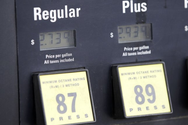 U.S. gasoline prices for consumers are moving steadily higher as the summer driving season approaches. File Photo by John Angelillo/UPI