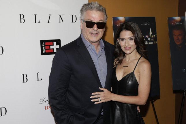 Alec Baldwin and his wife Hilaria arrive on the red carpet at the Blind premiere on June 26 in New York City. Baldwin is to star in NBC's live staging of A Few Good Men. File Photo by John Angelillo/UPI