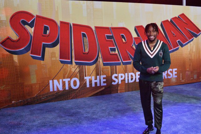 Cast member Shameik Moore attends the premiere of Spider-Man: Into the Spider-Verse in Los Angeles on December 1. Photo by Jim Ruymen/UPI