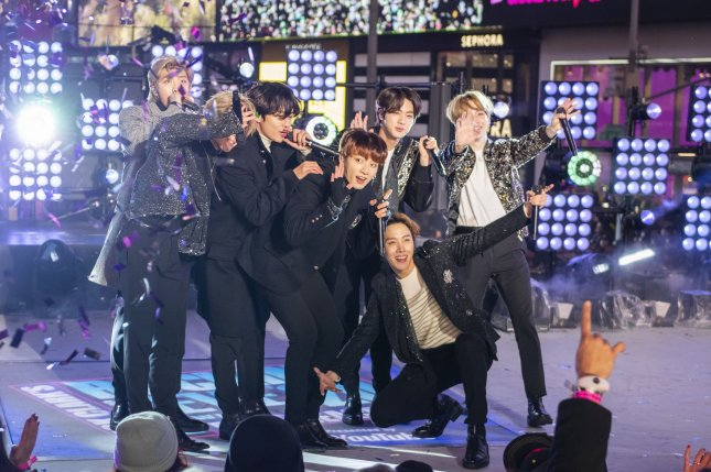 BTS will release Map of the Soul: 7, a followup to Map of the Soul: Persona, on February 21. File Photo by Corey Sipkin/UPI