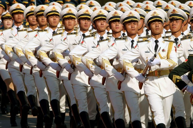 China's People's Liberation Army has been conducting maritime exercises in the Yellow Sea in September as tensions grow with the United States. File Photo by Stephen Shaver/UPI