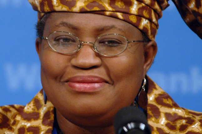 Nigerian's Ngozi Okonjo-Iweala is shown at a briefing at the International Monetary Fund and World Bank in Washington D.C. on April 21, 2006. She held her first meeting as the leader of the World Trade Organization on Monday. Photo by Roger L. Wollenberg/UPI