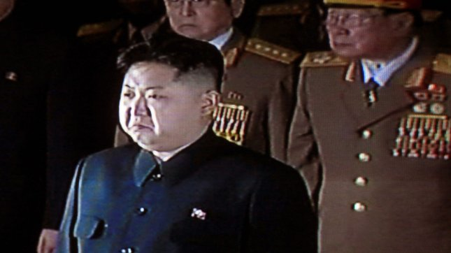 China's state television shows footage of Kim Jong Un in 2011. UPI/Stephen Shaver
