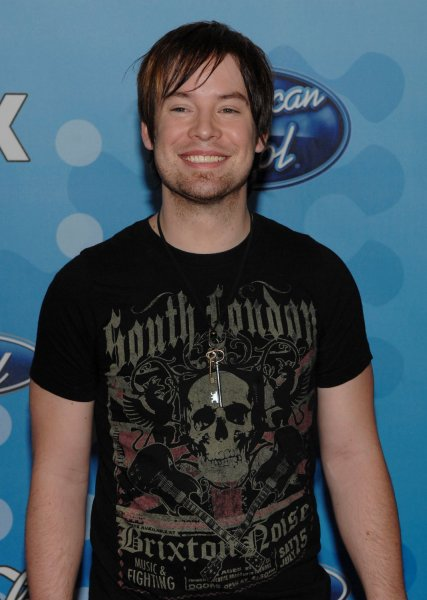 Finalist David Cook from Blue Springs, Missouri arrives for the American Idol Top 12 party honoring the finalists in the American Idol television reality series in Los Angeles on March 6, 2008. (UP Photo/Jim Ruymen)
