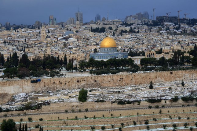 Israel has banned East Jerusalem Palestinians from entering the Old City for two days after two Israelis were killed in recent violence. Israeli Prime Minister Benjamin Netanyahu is holding emergency talks with Israeli security officials on Sunday. File photo by Debbie Hill/UPI