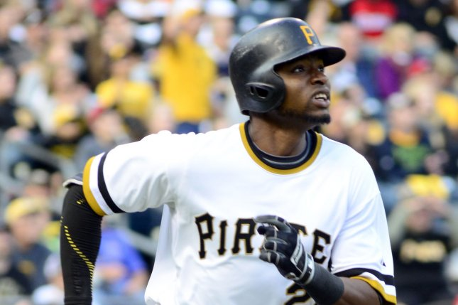 Pittsburgh Pirates right fielder Gregory Polanco (25). Photo by Archie Carpenter/UPI