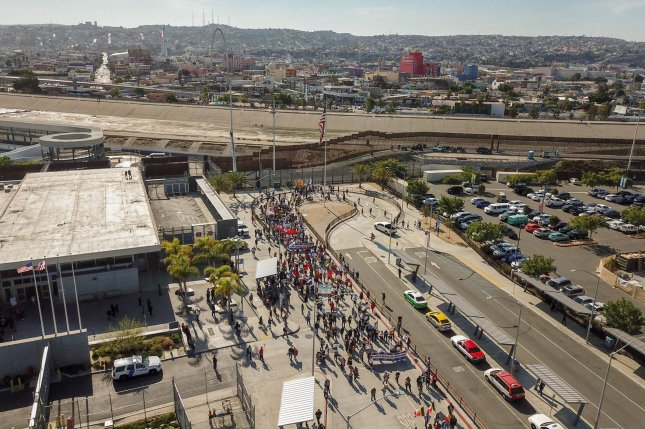 The San Ysidro Port of Entry is the busiest land port in the Western hemisphere, dealing with some 70,000 northbound vehicle passengers a day. Photo by Mani Albrecht/ U.S. Customs and Border Protection/UPI