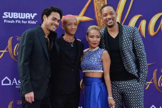Jada Pinkett Smith (second from right), pictured with Trey Smith, Jaden Smith and Will Smith (left to right), said her relationship with Will is stronger than ever after reaching a breaking point about 10 years into their marriage. File Photo by Jim Ruymen/UPI