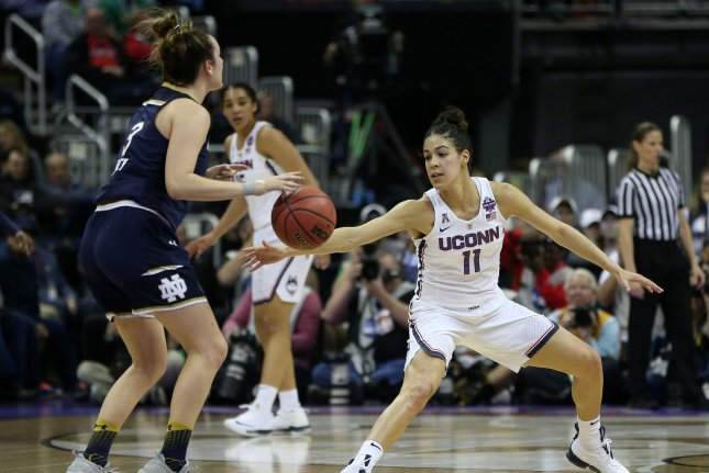 The University of Connecticut women's basketball team will play in the Big East after close to a decade in the American Athletic Conference. File Photo by Aaron Josefczyk/UPI