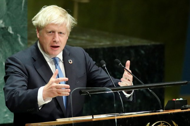 British Prime Minister Boris Johnson is accused of showing favoritism for the companies run by American businesswoman Jennifer Acuri. Photo by Monika Graff/UPI
