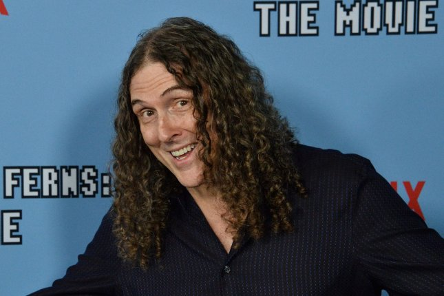 Weird Al Yankovic attends the premiere of the motion picture comedy Between Two Ferns: The Movie at the ArcLight Cinema Dome in the Hollywood section of Los Angeles on September 16. He turns 60 on October 22. File Photo by Jim Ruymen/UPI